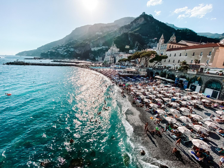 Amalfi beach, Italy
